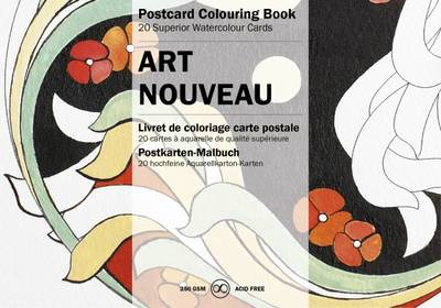 Art Nouveau: Postcard Colouring Book