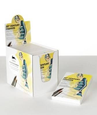 20th Century Fashion Display Box: Display Box with 10 Postcard Colouring Books (Paperback)