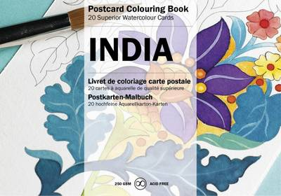 India: Postcard Colouring Book