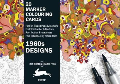 1960s Designs: Marker Colouring Cards Book (Hardback)