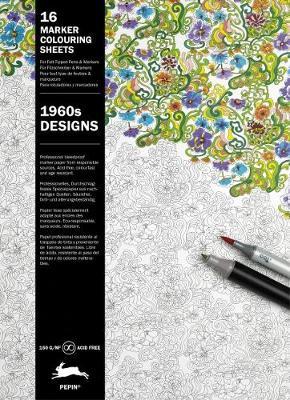 1960s Designs: Marker Colouring Sheets (Hardback)