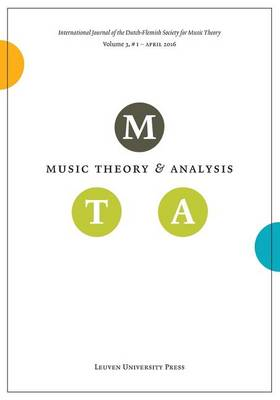 Music Theory and Analysis, Volume 3.1 (Paperback)
