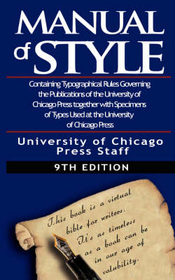 The Chicago Manual of Style by University (Paperback)