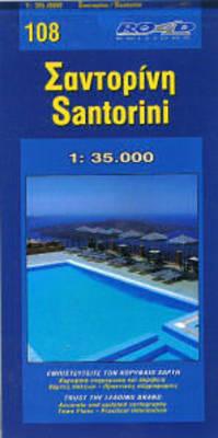 Map of Santorini - Maps of Greek islands 108 (Sheet map)