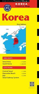 Korea Travel Map First Edition - Periplus Maps (Sheet map)