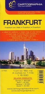 Frankfurt - Cartographia City Map S. No. 6792 (Sheet map, folded)