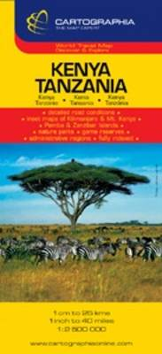 Kenya, Tanzania - Country Map (Sheet map, folded)