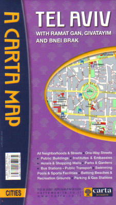 Map of Tel Aviv: With Ramat Gan, Givatayim, Old Jaffa and Bnie Brak (Paperback)