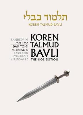 Koren Talmud Bavli Noe Edition: Volume 30: Sanhedrin Part 2, Hebrew/English, B&w Edition (Hardback)