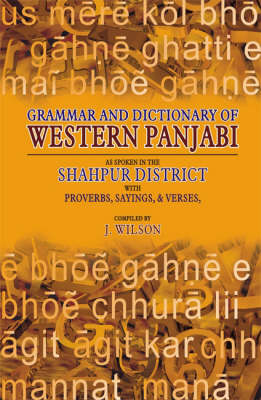 Grammar and Dictionary of Western Panjabi: With Proverbs, Sayings, and Verses (Hardback)