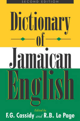 A Dictionary of Jamaican English (Paperback)