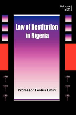 The Law of Restitution in Nigeria (Paperback)