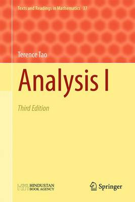 Analysis I 2017: Third Edition - Texts and Readings in Mathematics 37 (Book)