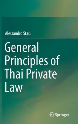 General Principles of Thai Private Law (Hardback)