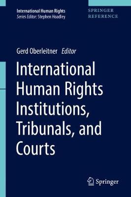 International Human Rights Institutions, Tribunals, and Courts - International Human Rights (Hardback)