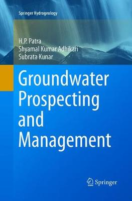 Groundwater Prospecting and Management - Springer Hydrogeology (Paperback)