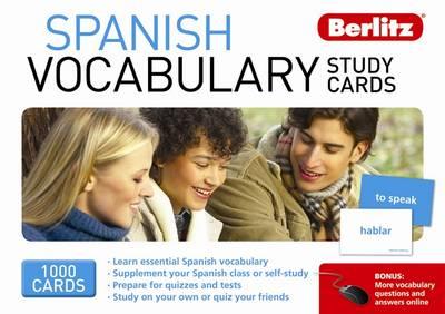 Berlitz: Spanish Vocabulary Study Cards - Berlitz Vocabulary Study Cards