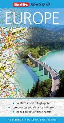 Europe Berlitz Road Map - Berlitz Road Maps (Sheet map, folded)