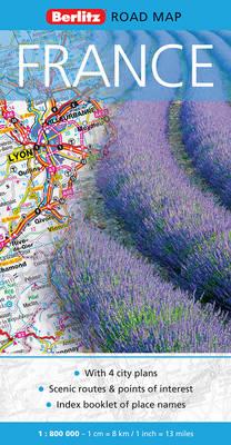 France Berlitz Road Map - Berlitz Road Maps (Sheet map, folded)