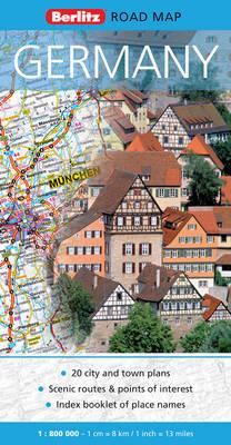 Germany Berlitz Road Map - Berlitz Road Maps (Sheet map, folded)