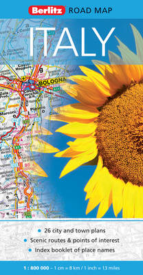 Italy Berlitz Road Map - Berlitz Road Maps (Sheet map, folded)