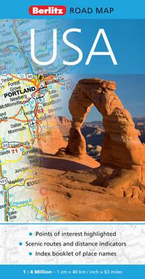 USA Berlitz Road Map - Berlitz Road Maps (Sheet map, folded)