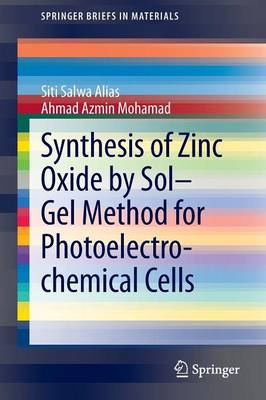 Synthesis of Zinc Oxide by Sol-Gel Method for Photoelectrochemical Cells - SpringerBriefs in Materials (Paperback)