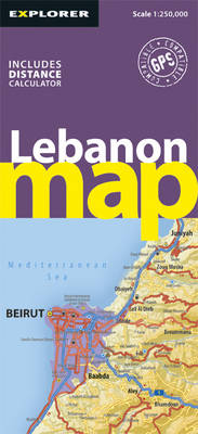 Lebanon Road Map - Road Maps (Sheet map, folded)