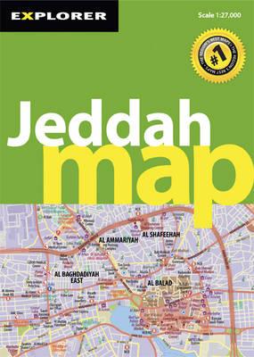 Jeddah Map - City Map (Sheet map, folded)