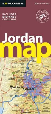 Jordan Road Map - Road Maps (Sheet map, folded)