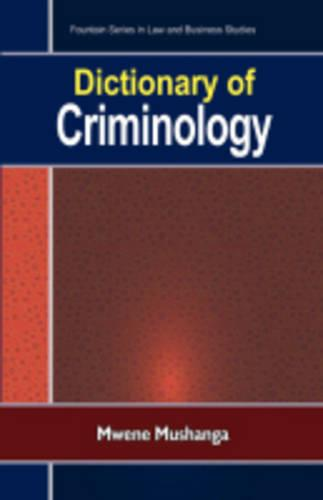 Dictionary of Criminology (Paperback)