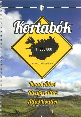 Iceland Road Atlas, with Town Plans, 2014-2015 2014 (Spiral bound)