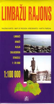 Limbazu Rajons - Regional Maps of Latvia S. (Sheet map, folded)