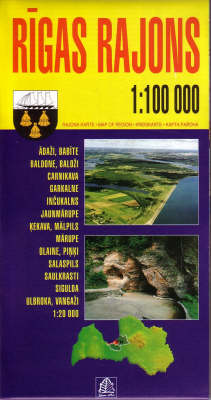 Rigas Rajons - Regional Maps of Latvia S. (Sheet map, folded)