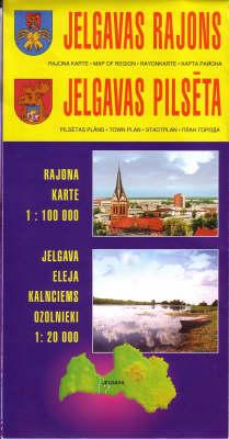 Jelgavas Region 2003: Jelgavas Town Plan (Sheet map, folded)