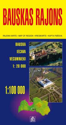 Bauskas Region - Regional Maps of Latvia S. (Sheet map, folded)