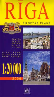 Riga 2006 - City Plans S. (Sheet map, folded)