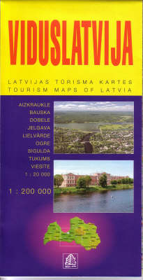 Viduslatvija: Middle Latvia - Tourism Maps of Latvia No. 3 (Paperback)