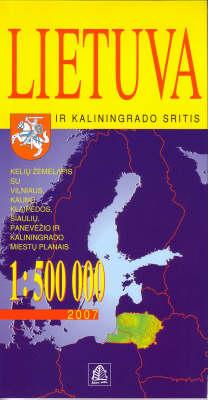 Lithuania (Lietuva) and Kaliningrad 2015 (Sheet map, folded)