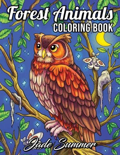 Forest Animals: An Adult Coloring Book with 50 Adorable Images of Woodland Creatures, Beautiful Flowers, Nature Scenes, and More! (Paperback)