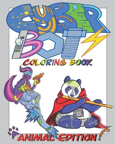 Cyber Bots Coloring Book Animal Edition (Paperback)