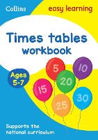 Times Tables Workbook Ages 5-7: New Edition - Collins Easy Learning KS1 (Paperback)
