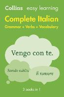 Easy Learning Italian Complete Grammar, Verbs and Vocabulary (3 books in 1): Trusted Support for Learning - Collins Easy Learning (Paperback)