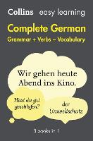 Easy Learning German Complete Grammar, Verbs and Vocabulary (3 books in 1): Trusted Support for Learning - Collins Easy Learning (Paperback)