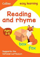 Reading and Rhyme Ages 3-5: Ideal for Home Learning - Collins Easy Learning Preschool (Paperback)