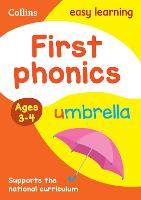 First Phonics Ages 3-4: Ideal for Home Learning - Collins Easy Learning Preschool (Paperback)