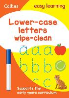 Lower Case Letters Age 3-5 Wipe Clean Activity Book: Ideal for Home Learning - Collins Easy Learning Preschool