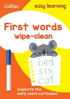 First Words Age 3-5 Wipe Clean Activity Book: Ideal for Home Learning - Collins Easy Learning Preschool