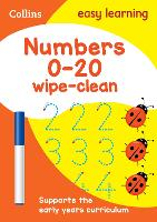 Numbers 0-20 Age 3-5 Wipe Clean Activity Book: Ideal for Home Learning - Collins Easy Learning Preschool (Paperback)