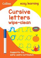 Cursive Letters Age 3-5 Wipe Clean Activity Book